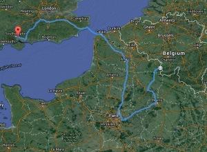 The Tour route so far